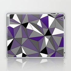 Geo - purple, gray, black and white Laptop & iPad Skin