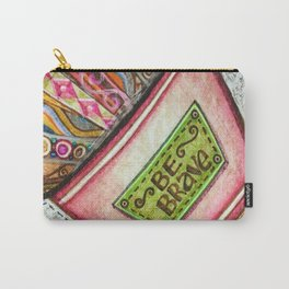 Be Brave, Shine Square Carry-All Pouch