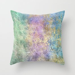 Golden Rainbow Throw Pillow