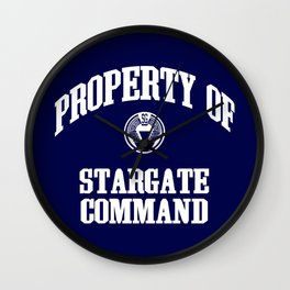 Property of Stargate Command Athletic Wear White ink Wall Clock