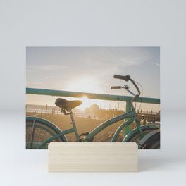 Bike & Beach in Sunny Manhattan Beach, California Mini Art Print