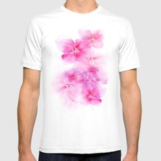 Light and shade Mens Fitted Tee White MEDIUM