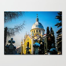 Orthodox Church in Brasov, Romania Canvas Print