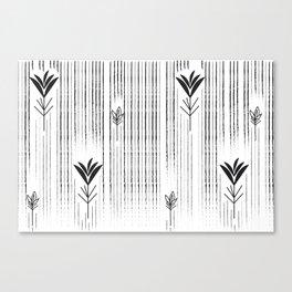 Black & White Siam Tulips Canvas Print
