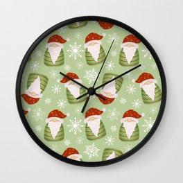 Christmas Gnomes Wall Clock