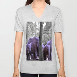 Purple guests Unisex V-Neck