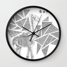 Skeletal Giraffe Wall Clock