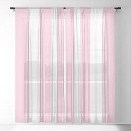 Pink & White Vertical Stripes Sheer Curtain