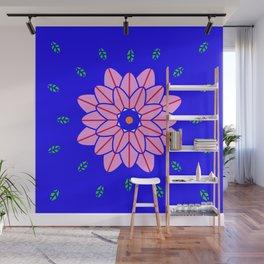 Flower power 1 Klein Blue Wall Mural