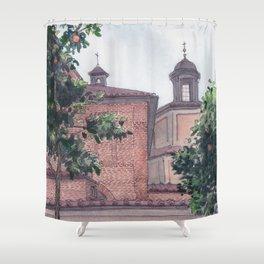 GIARDINO DEGLI ARANCI, Rome Travel Sketch by Frank-Joseph Shower Curtain