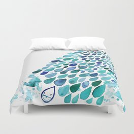 Inkdrops of Joy - Right Side Duvet Cover