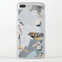 Warbler Exhibit Museum Birds Clear iPhone Case