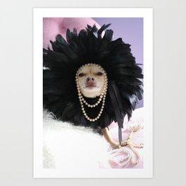Chihuahua Vogue  Art Print