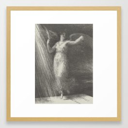 Awakening (Réveil) from the book Richard Wagner, sa vie et ses oeuvres by Adolphe Jullien Henri Fant Framed Art Print