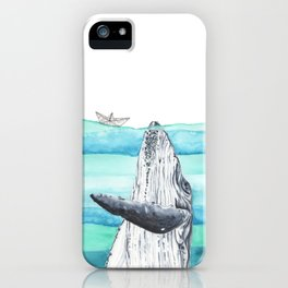 In the middle of the ocean iPhone Case