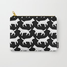 Black with white dogs pattern  Carry-All Pouch