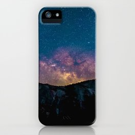 PURPLE MILKYWAY OVER THE MOUNTAINS iPhone Case