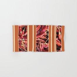Chillies stripe pattern design orange Hand & Bath Towel