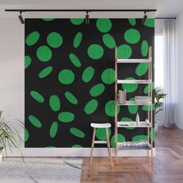 Retro Vintage St Patricks Day Green Luck Gift Coins Wall Mural