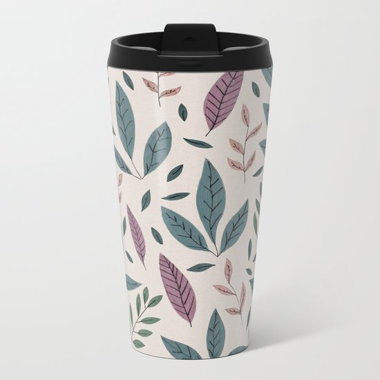 Hand drawn Pattern #01 Metal Travel Mug