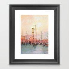 La Lanterna di Genova Framed Art Print