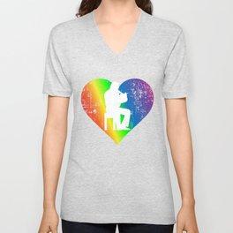 Hobby Pride Rainbow Heart Unisex V-Neck