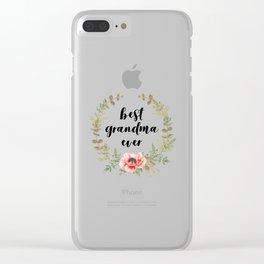 Best Grandma Ever Clear iPhone Case