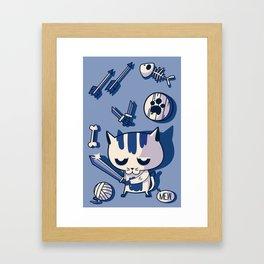 Cat the Conqueror Framed Art Print