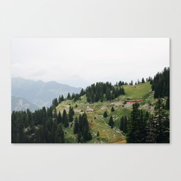Photo of the railway station Schynige Platte, Suisse | Colorful travel photography | Canvas Print