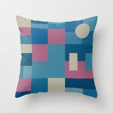 Palm Springs Pink Throw Pillow