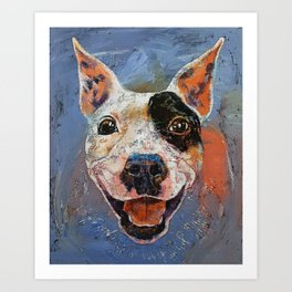 Happy Pitbull Art Print