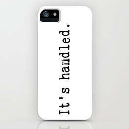 It's Handled - Television Pink Glitter iPhone Case
