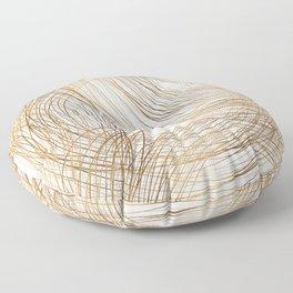 Metallic Circle Pattern Floor Pillow