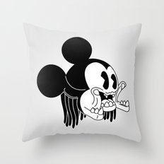 icky mouse. Throw Pillow