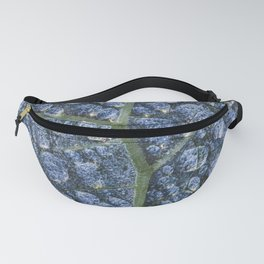 Cool water drops dew texture leaf Fanny Pack