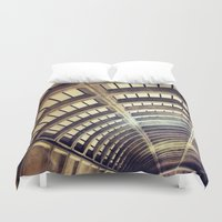 washington dc Duvet Covers featuring Petworth Metro (Washington, DC) by Carsick T-Rex