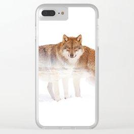 Wild animals : Wolf Clear iPhone Case