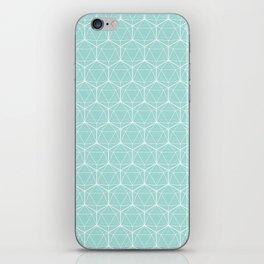 Icosahedron Seafoam iPhone Skin