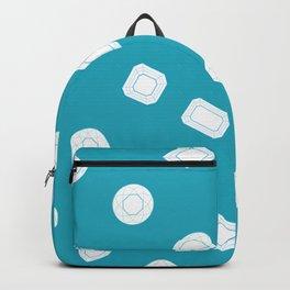 Blue Moissy Gem Pattern Backpack