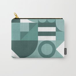 Modern geometric graphic art teal Carry-All Pouch