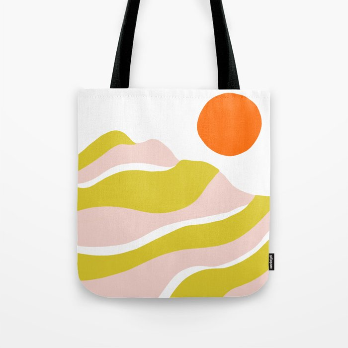 sierra mountain sunset Tote Bag