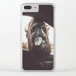 Bison Wassup Clear iPhone Case