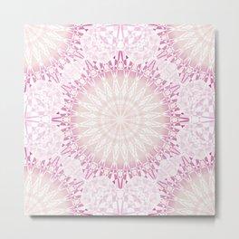 Pink Geometric Mandala Metal Print