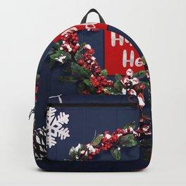 Wallpaper Christmas English Heart Wreath Snowflake Backpack