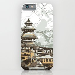 Himalayan Temple in Nepal iPhone Case