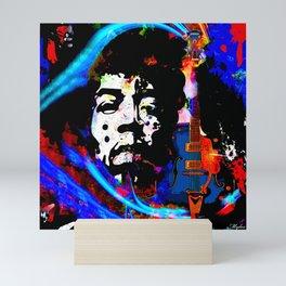 GUITAR MAN:  MUSIC DOESN'T LIE Mini Art Print