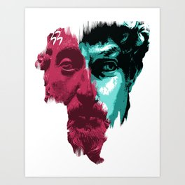 MINDS COLLIDED Art Print