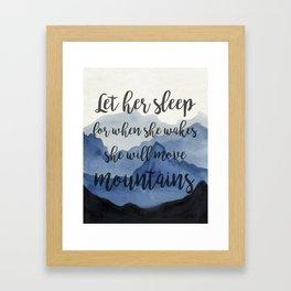 let her sleep Framed Art Print
