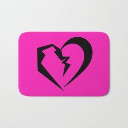 Hot Pink Heartbreak Bath Mat