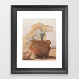 Yellow Lion Framed Art Print